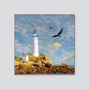 "Lighthouse7100 Square Sticker 3"" x 3"""